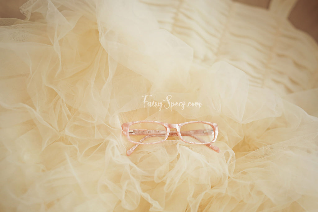 Soft pearly pink glasses for girls