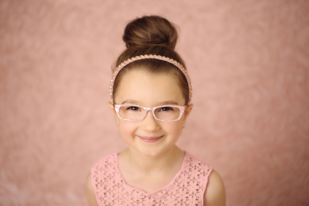 Designer pink pearly glasses for girls