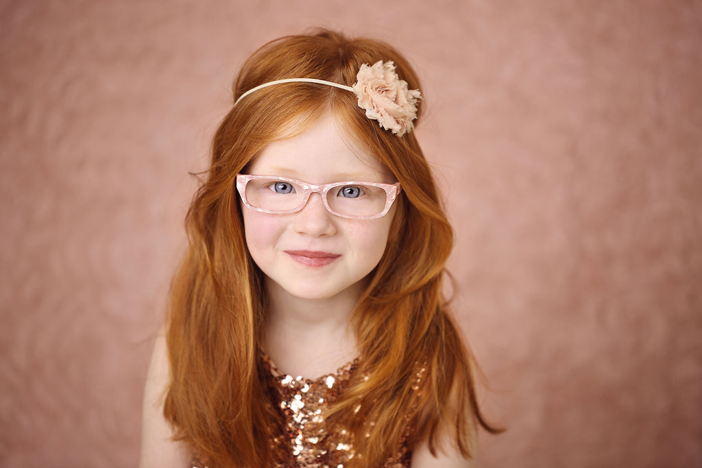 Pink coral girl's glasses frames