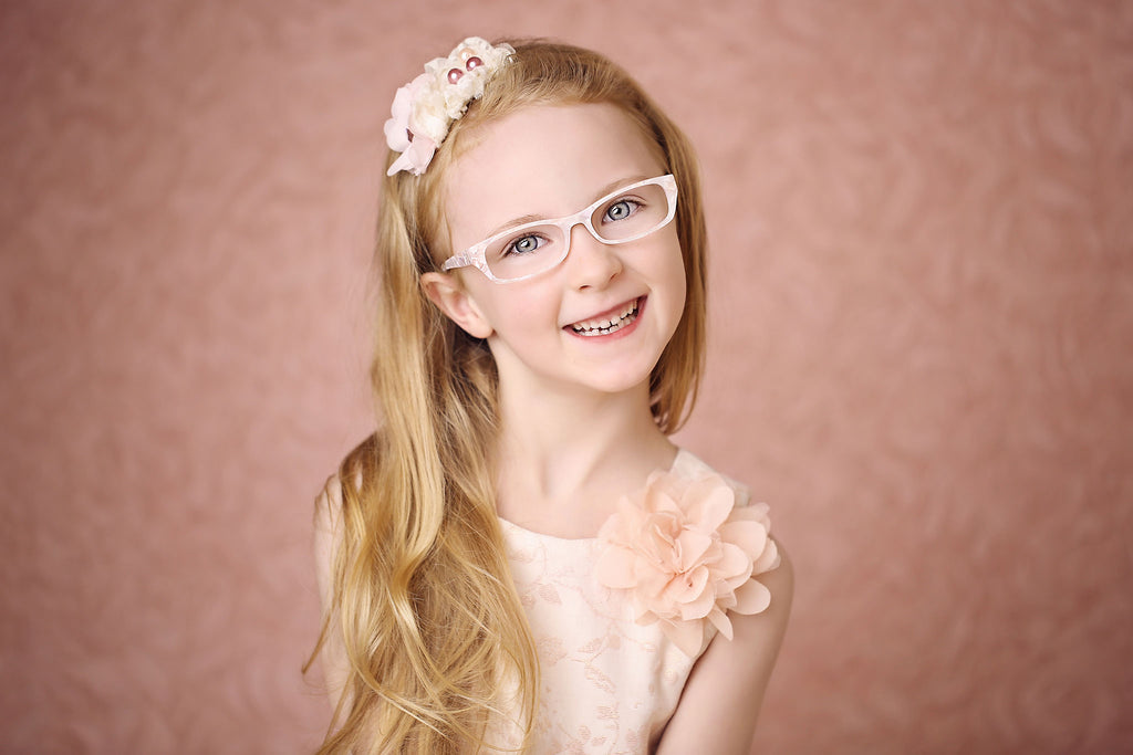 White pearly glasses frames for girls