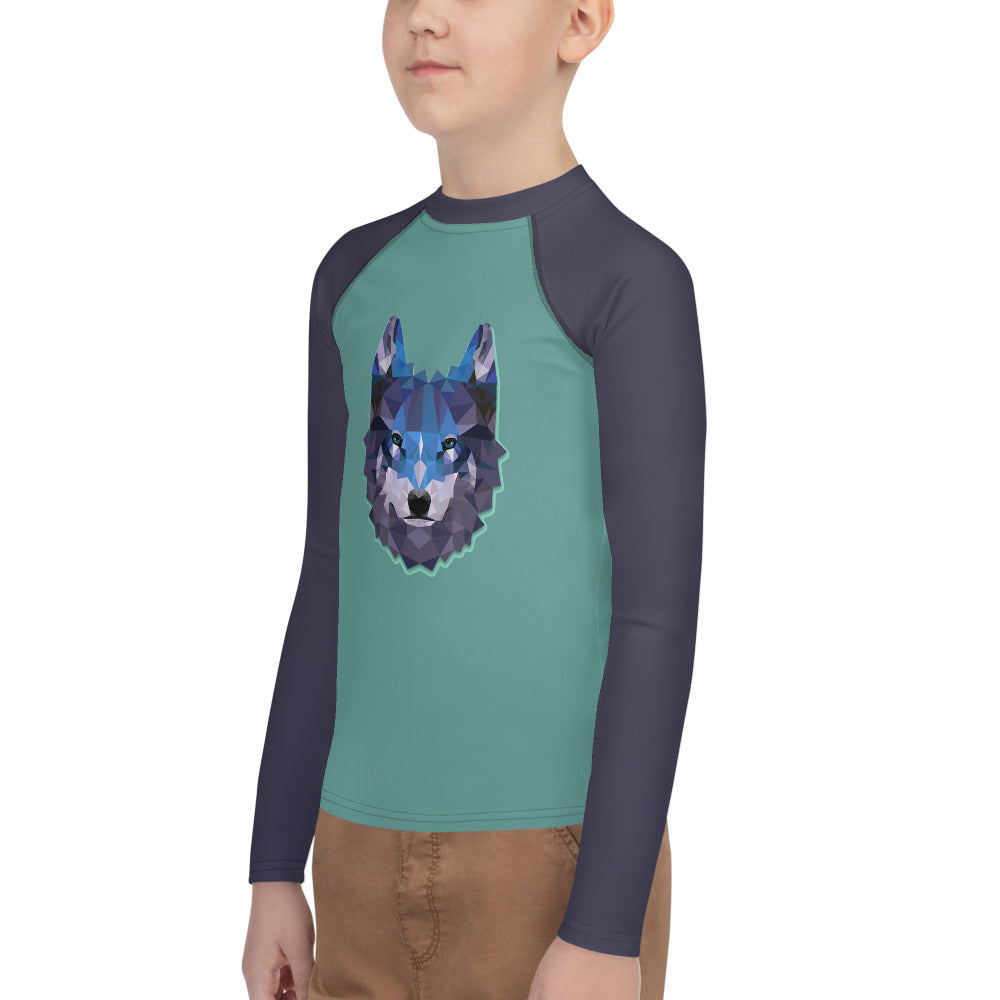 Youth Sun Safe UV Protection Rash Guard - Wolf (8-20y) - Fairy Specs