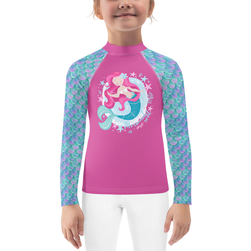 Girls Sun Safe UV Protection Rash Guard - Mermaid (2-7y) - Fairy Specs