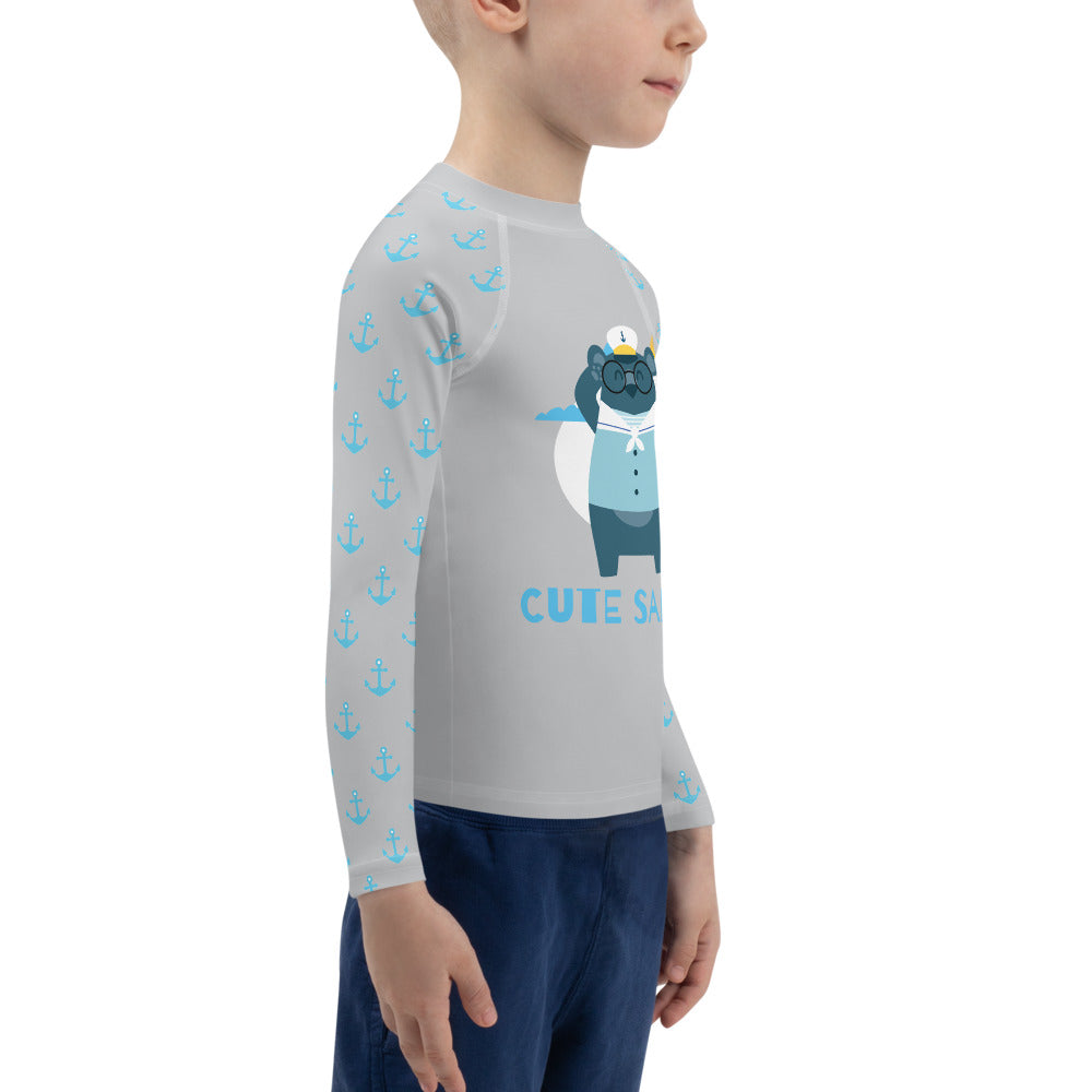 Boys Sun Safe UV Protection Rash Guard - Sailor with Glasses (2-7y) - Fairy Specs