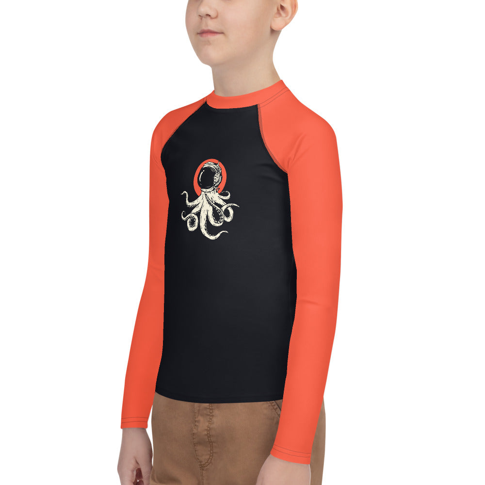 Youth Sun Safe UV Protection Rash Guard - Octopus Astronaut (8-20y) - Fairy Specs