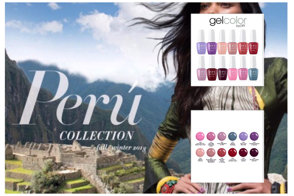 OPI GelColor - PERU Collection. Free Shipping Over £10