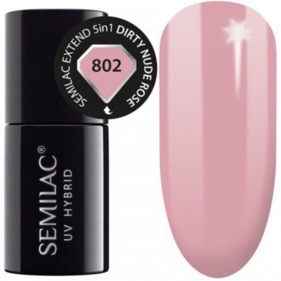 SEMILAC Extended Base 5in1 -  802 Dirty Nude Rose  7ml