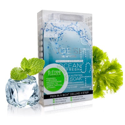 VOESH Pedi In A Box Deluxe 4 In 1 Kit - Ocean Refresh