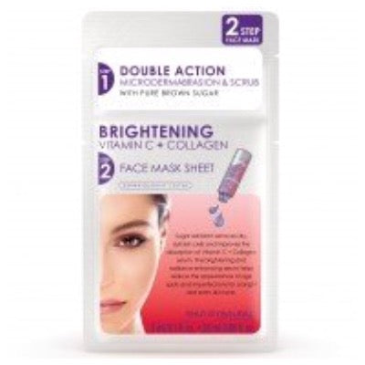 Skin Republic Two-Step Face Mask Brightening Vitamin C + Collagen Microderma