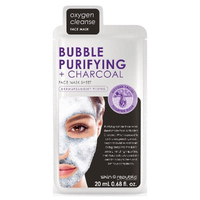 Skin Republic Face Mask Bubble Purifying + Charcoal Face Sheet Mask