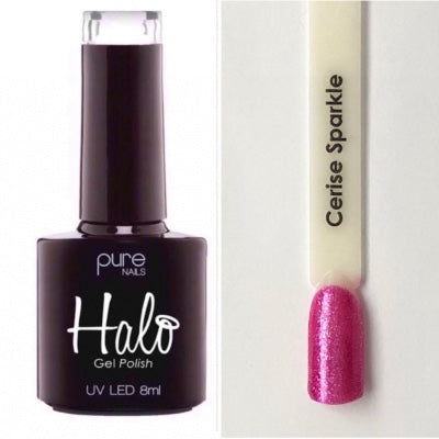 Halo Gel Polish 8ml - Cerise Sparkle