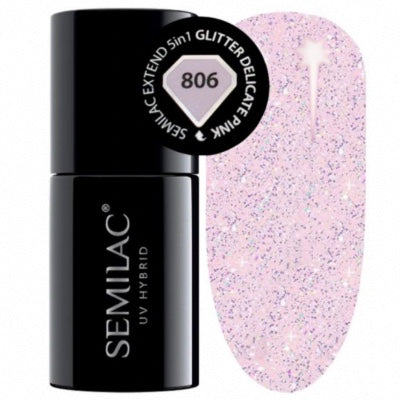 SEMILAC Extended Base 5in1 - 806 Glitter Delicate Pink 7ml