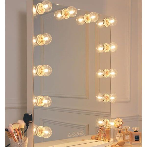Julia Hollywood Mirror in White Gloss
