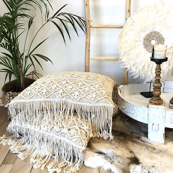 Macrame Floor Cushion