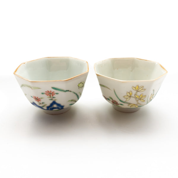 40ml Vintage Octagonal Cups - Orchids