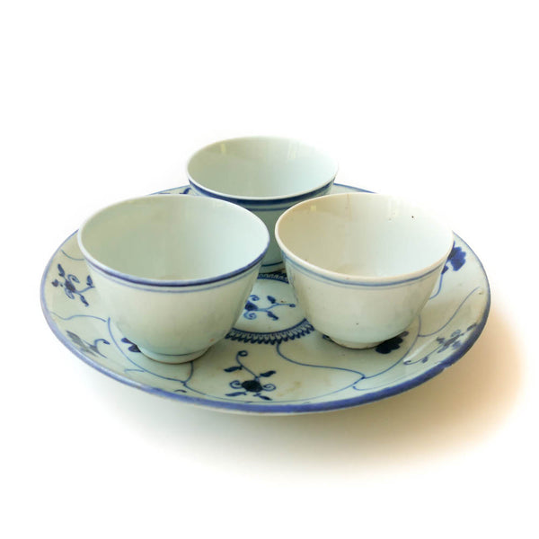 Late Qing Dynasty Large Blue Line Cup