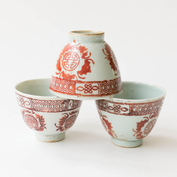 90ml Qing Dynasty Lucky  (福)Pattern Cup