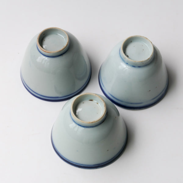 Antique Blue Line cups