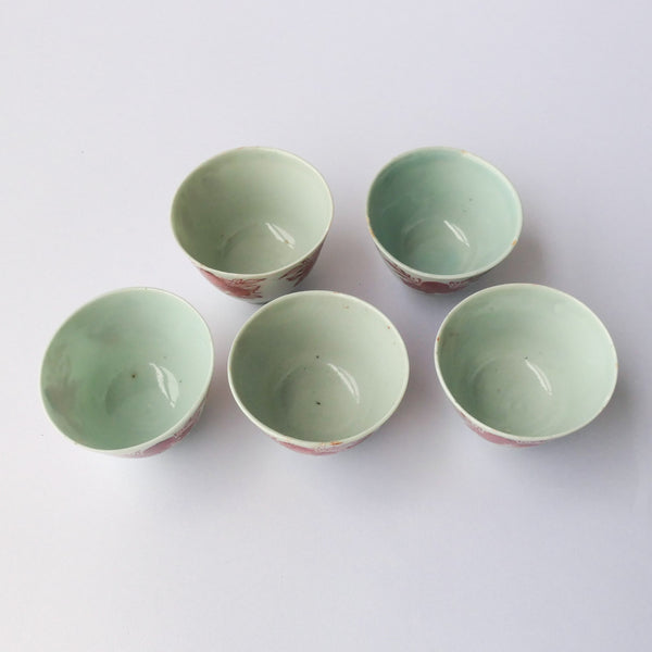 70ml Qing Dynasty Peach - Antique Teacups