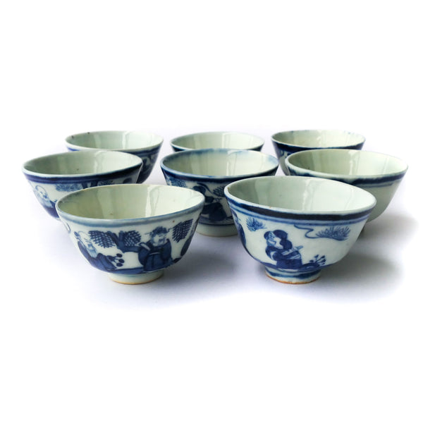 45ml Qing Dynasty RenWu Antique Cups