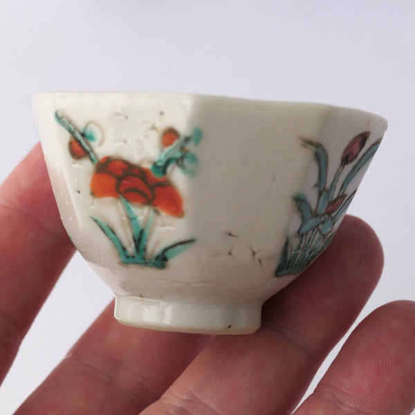 35ml Qing Dynasty Octagonal Antique Cup
