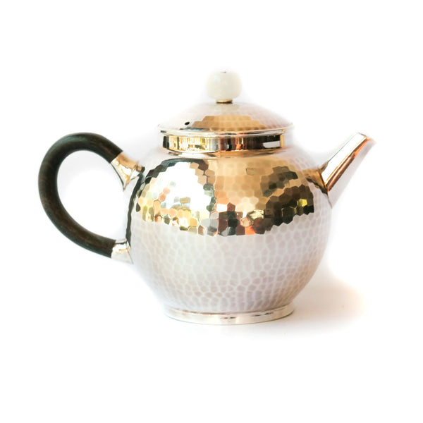 105ml Julunzhu .995 Silver Teapot - black handle