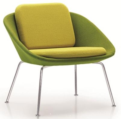 Ocee Design Dishy Low Back 4 Leg Chair