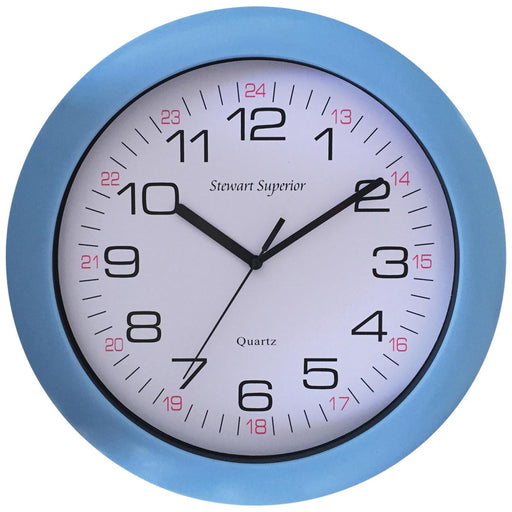 Acrylic Cased Clock - Blue or Red