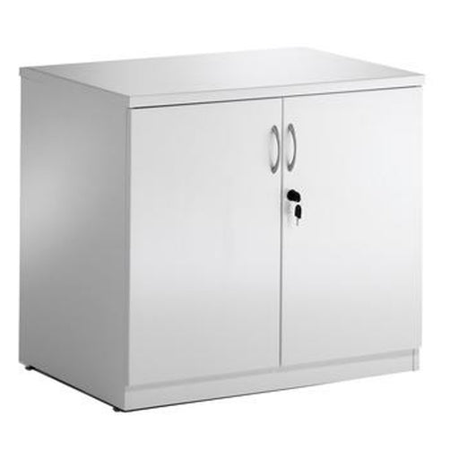 High Gloss Desk High Cupboard - White