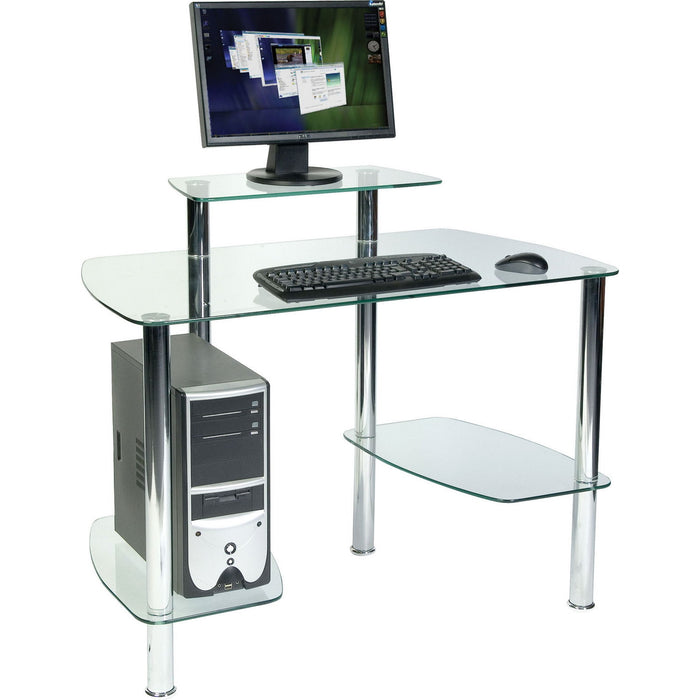 Home Office Glacier Desk With Storage Space