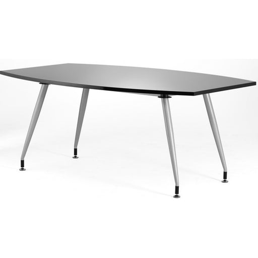 High Gloss Meeting Room Table 2400mm - Black