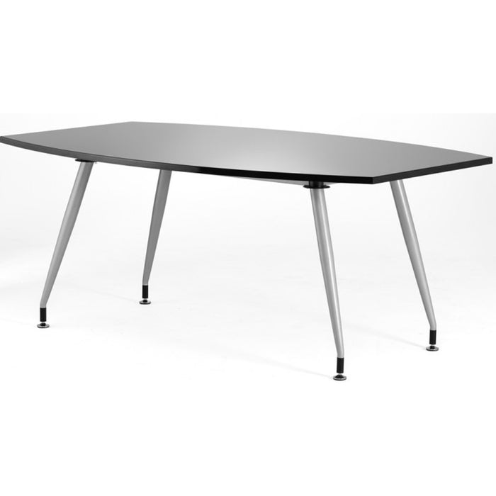 High Gloss Meeting Room Table 1800mm - Black