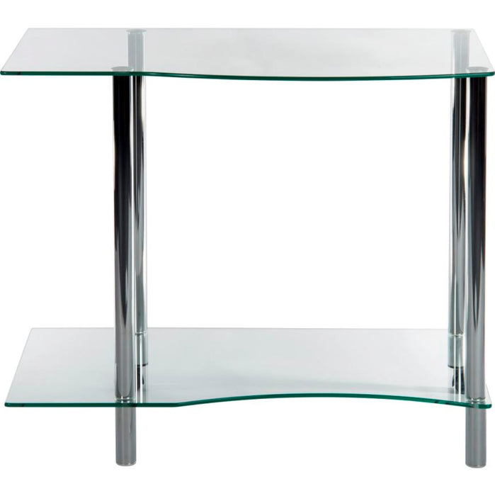 Home Office Clear Glass Workstation