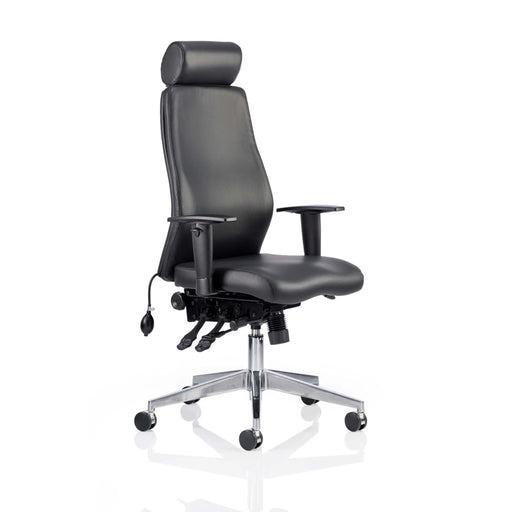 Black Or Grey Bonded Leather Posture Chair