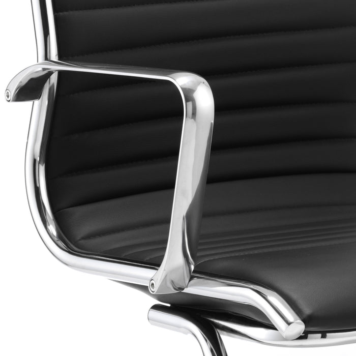 Ritz chrome and leather executive chair