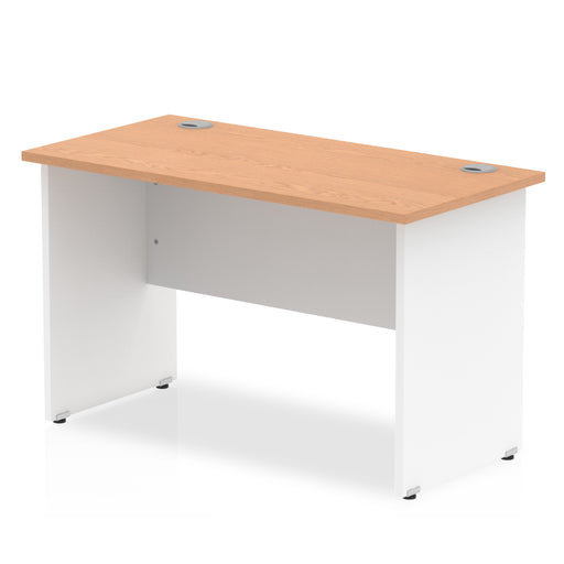Straight desk 600mm depth panel end leg - Available in 4 different finishes!