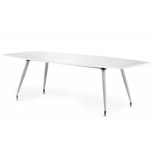 Dynamic High Gloss Meeting Room Table 1800mm - White