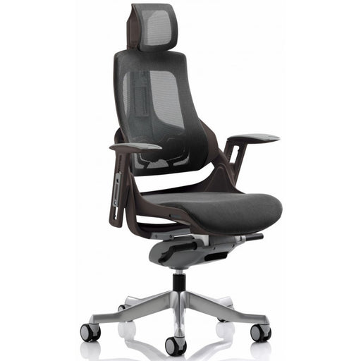 Ergonomic Black frame Charcoal mesh chair - With/Without headrest