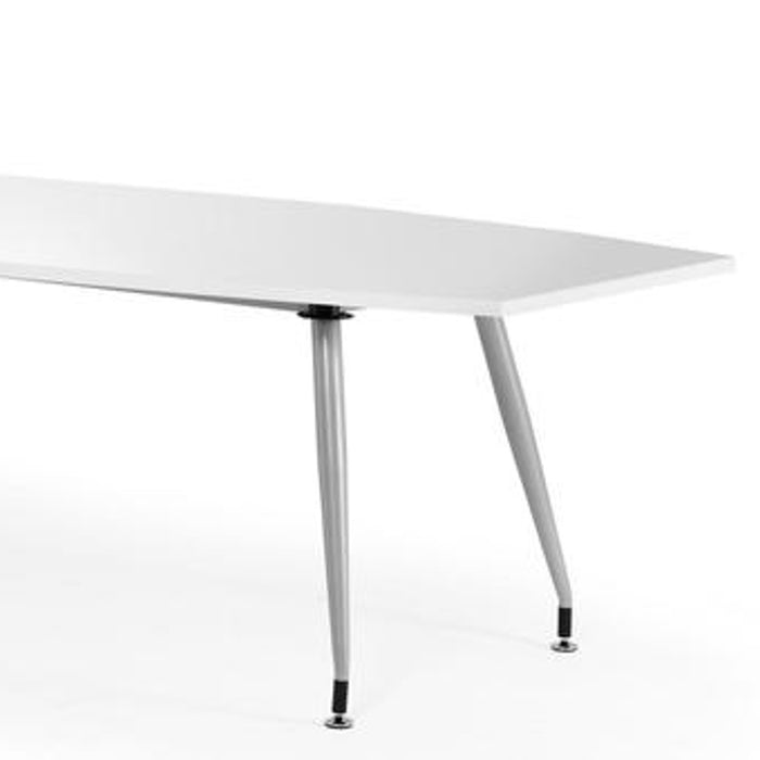 High Gloss Meeting Room Table 2400mm - White