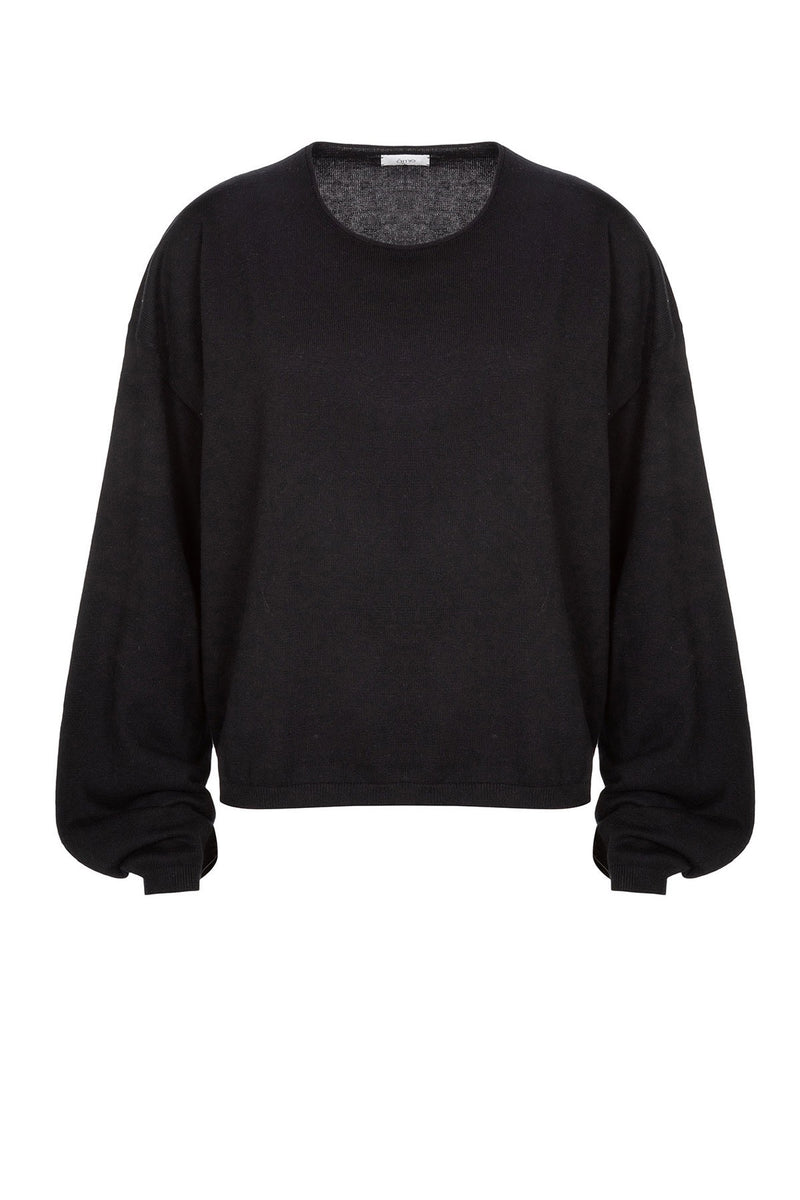 Daria Cotton-Cash Sweater | Black
