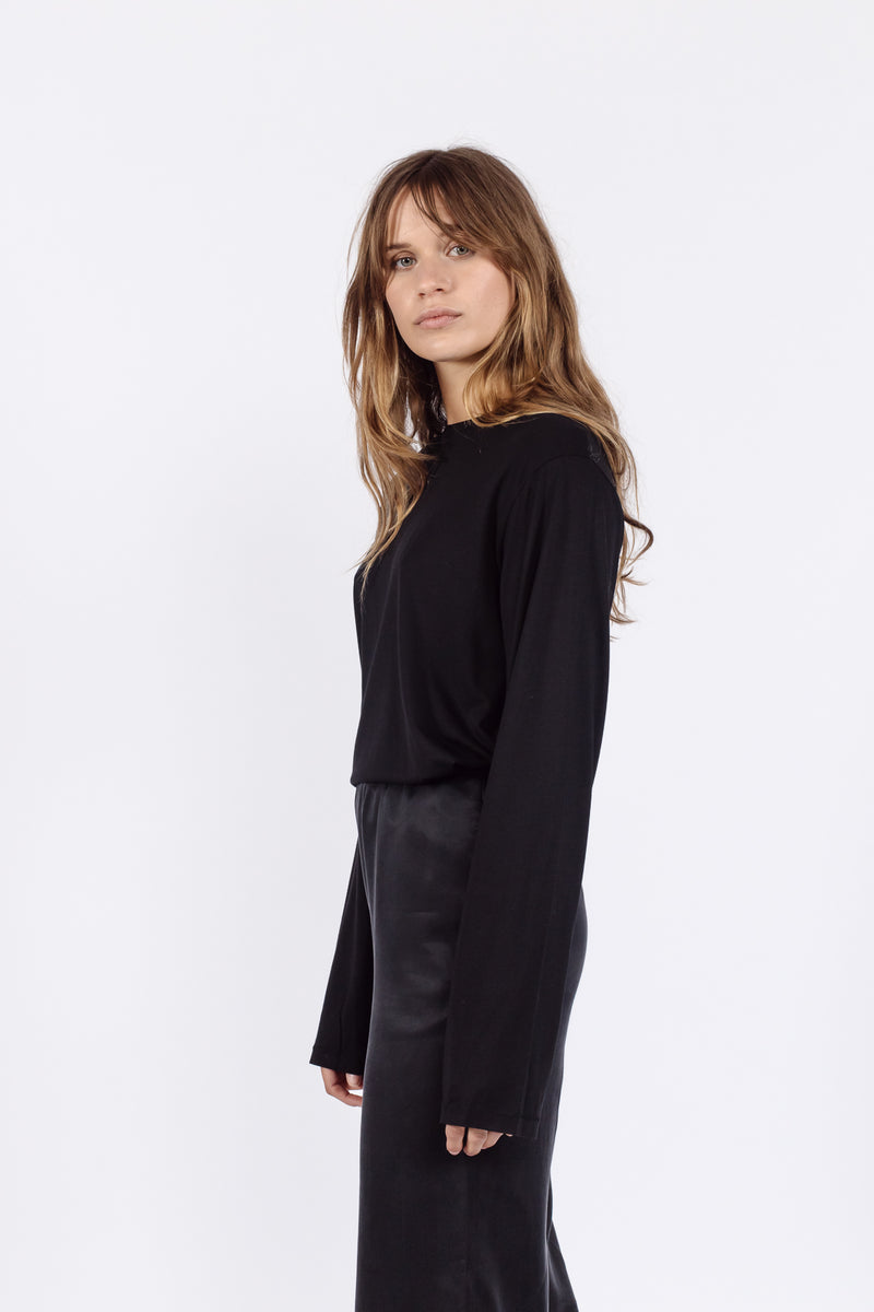 Cosy Long sleeved t-shirt | Black
