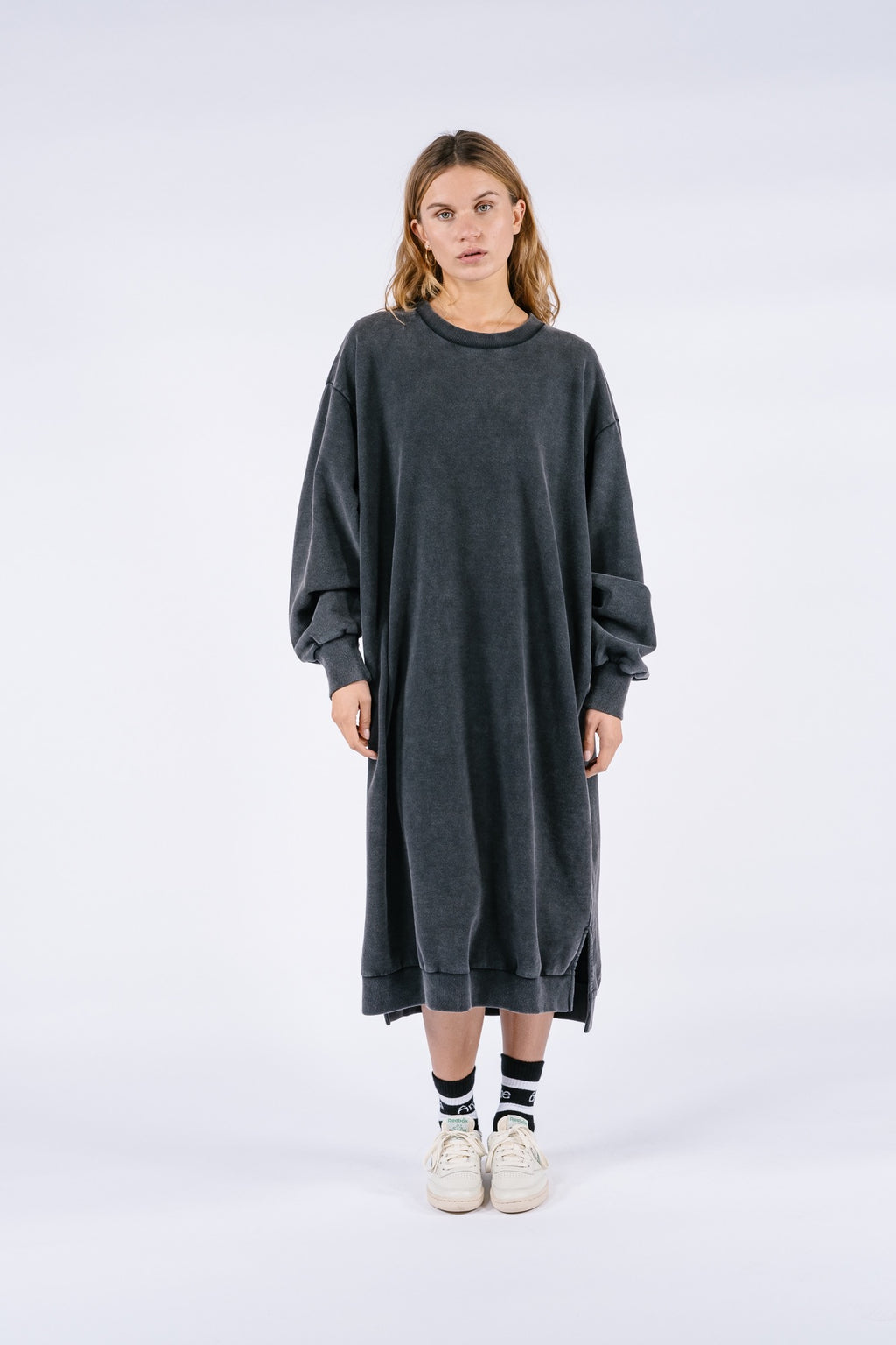 Dancy Sweatshirt Dress | Vintage black