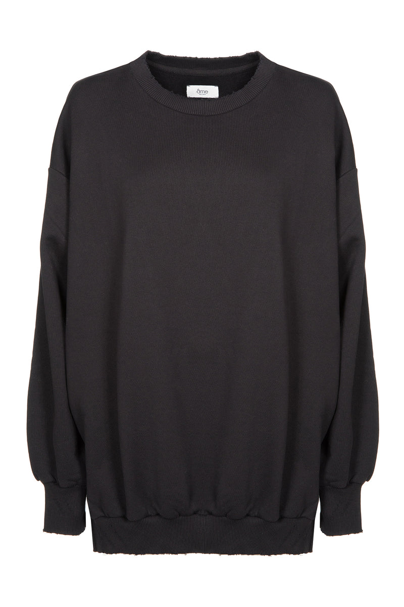 Ulla Oversized Sweatshirt | Black