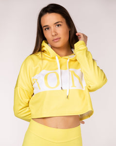 SAVAGE - CROPPED HOODIE yellow