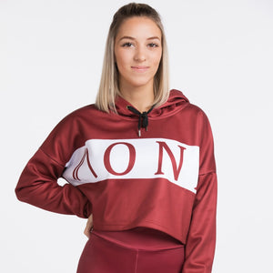 SAVAGE - CROPPED HOODIE bourgogne