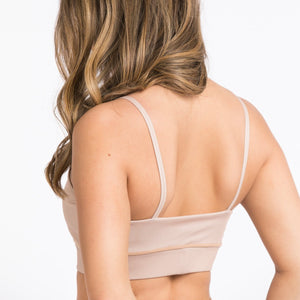POWERFUL - SPORTSBRA beige