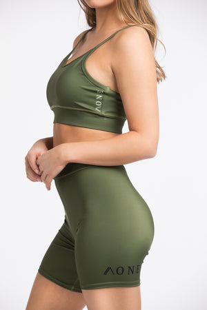 POWERFUL - SPORTSBRA khaki