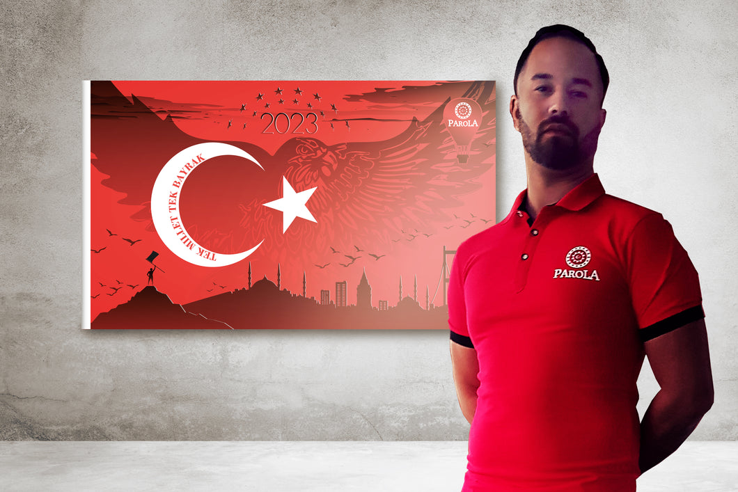 AKTION! Herren Polo + Turkey 2023 Fahne
