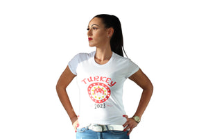 Damen T-Shirt Turkey 2023