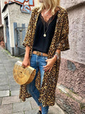 Yellow Plain Print Long Sleeve Going out Cardigan Coat