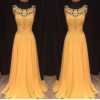 Yellow Patchwork Lace Pleated Hollow-out Floor Length Maxi Dress